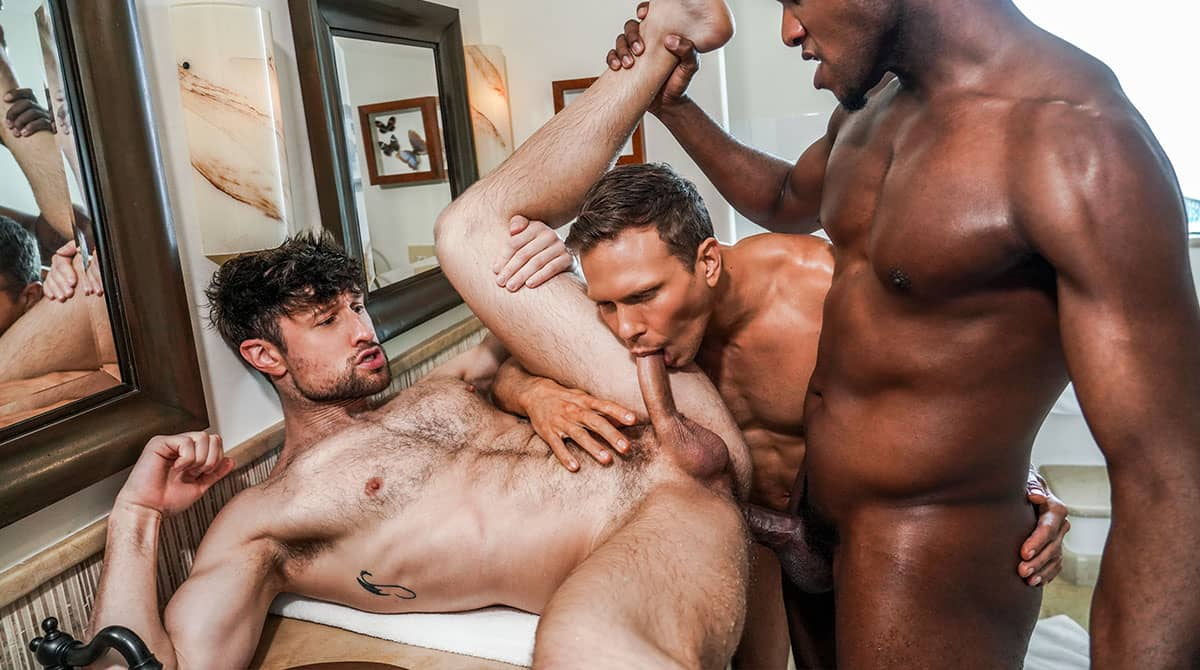 Bust A Nut, Scene 3 – Andre Donovan And Ethan Chase Double Penetrate Drew Dixon