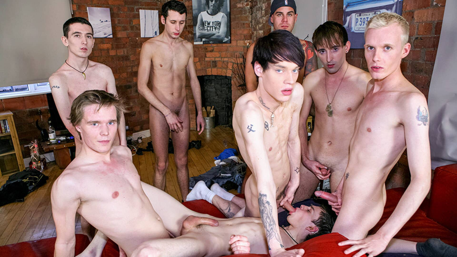 Party Time For Cock-Crazed Boys, Part 1