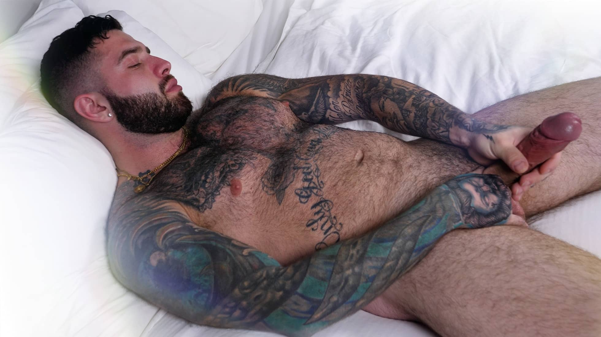 Hairy Man with a Big Uncut Dick, Giovanni 2
