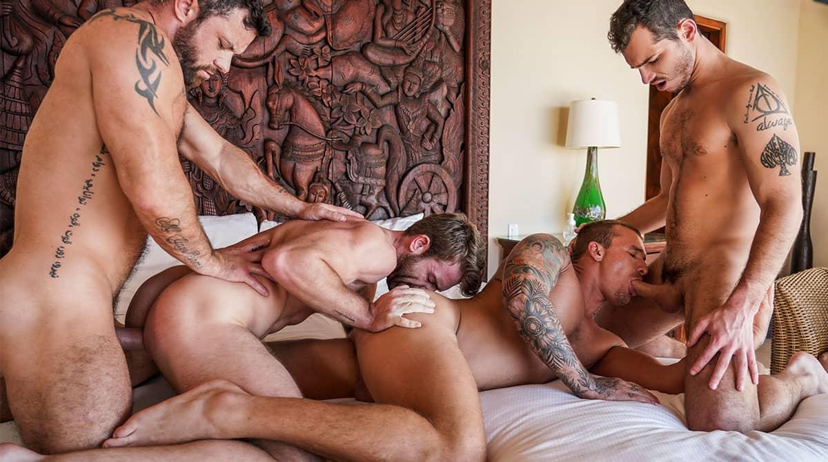 Punishing Some Hole, Scene 1 – Sergeant Miles Dominates Isaac X, Ricky Hard And Gabriel Phoenix