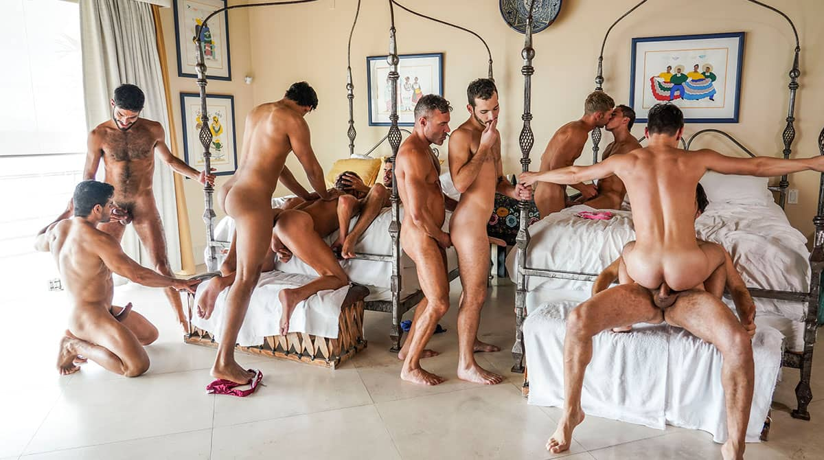 Plowed, Pounded, Pummeled – 11-Man Orgy Part 02