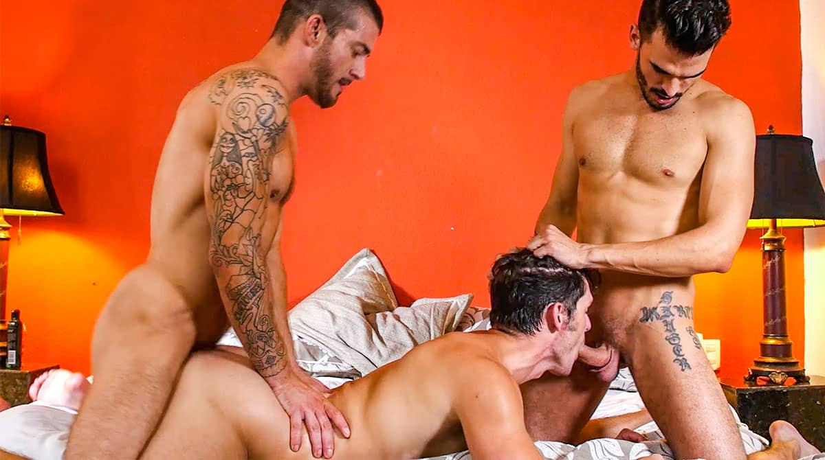 Plowed, Pounded, Pummeled – Tryp Bates Sucks And Fucks With Devin Franco And Aaden Stark
