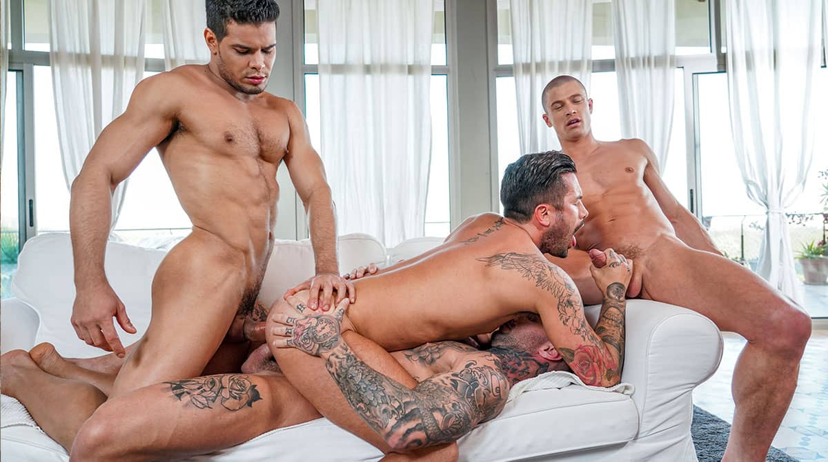 Filled Up With Cum, Scene 4 – Dylan James, Rico Marlon, Ruslan Angelo and Andrea Suarez