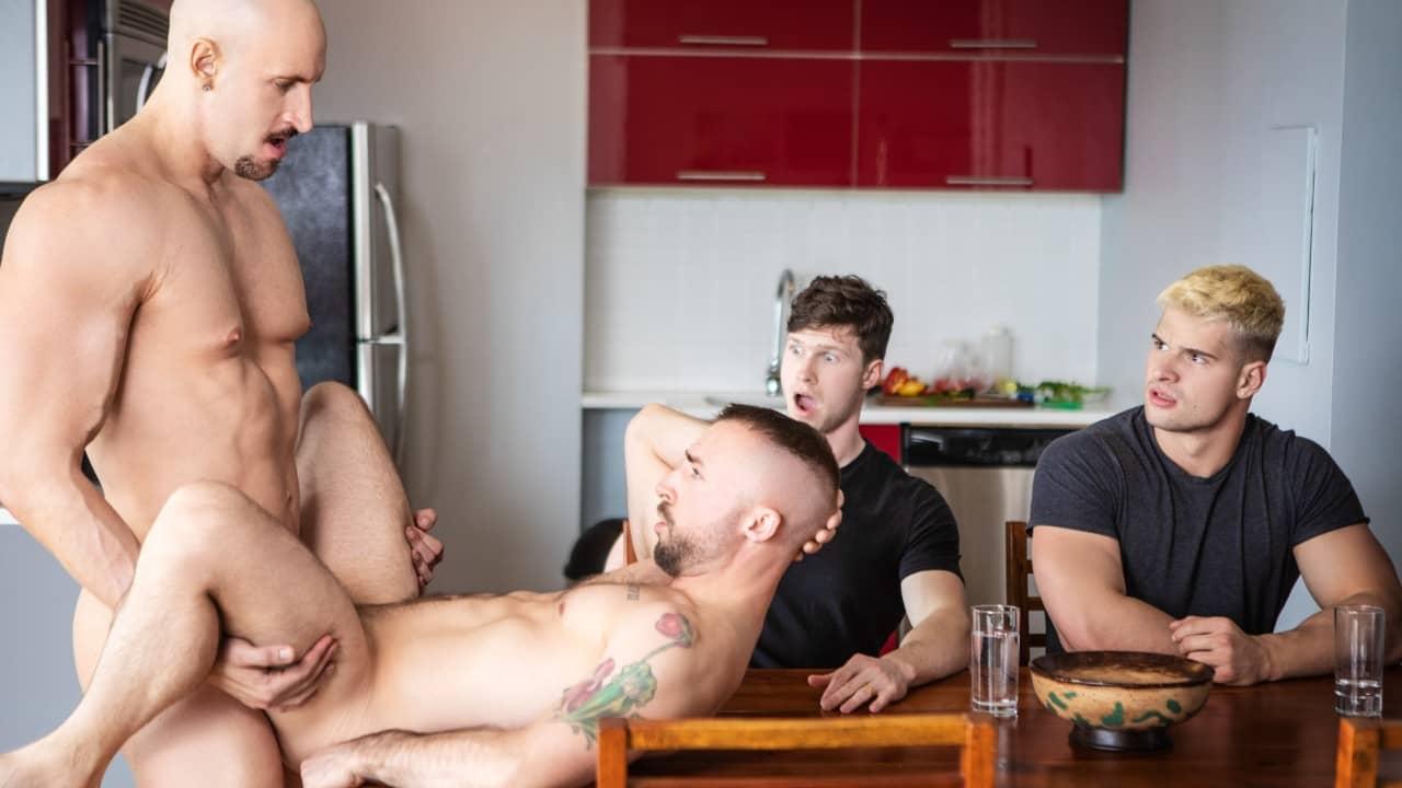 Skipping Dinner Uncut – Malik Delgaty, Jeremy London, Finn Harding and Travis Connor