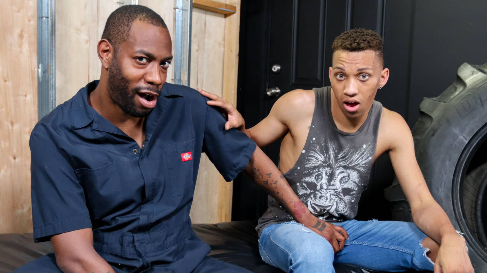 Fucking My Stepdad For Car Repairs – August Alexander and James Jacobs