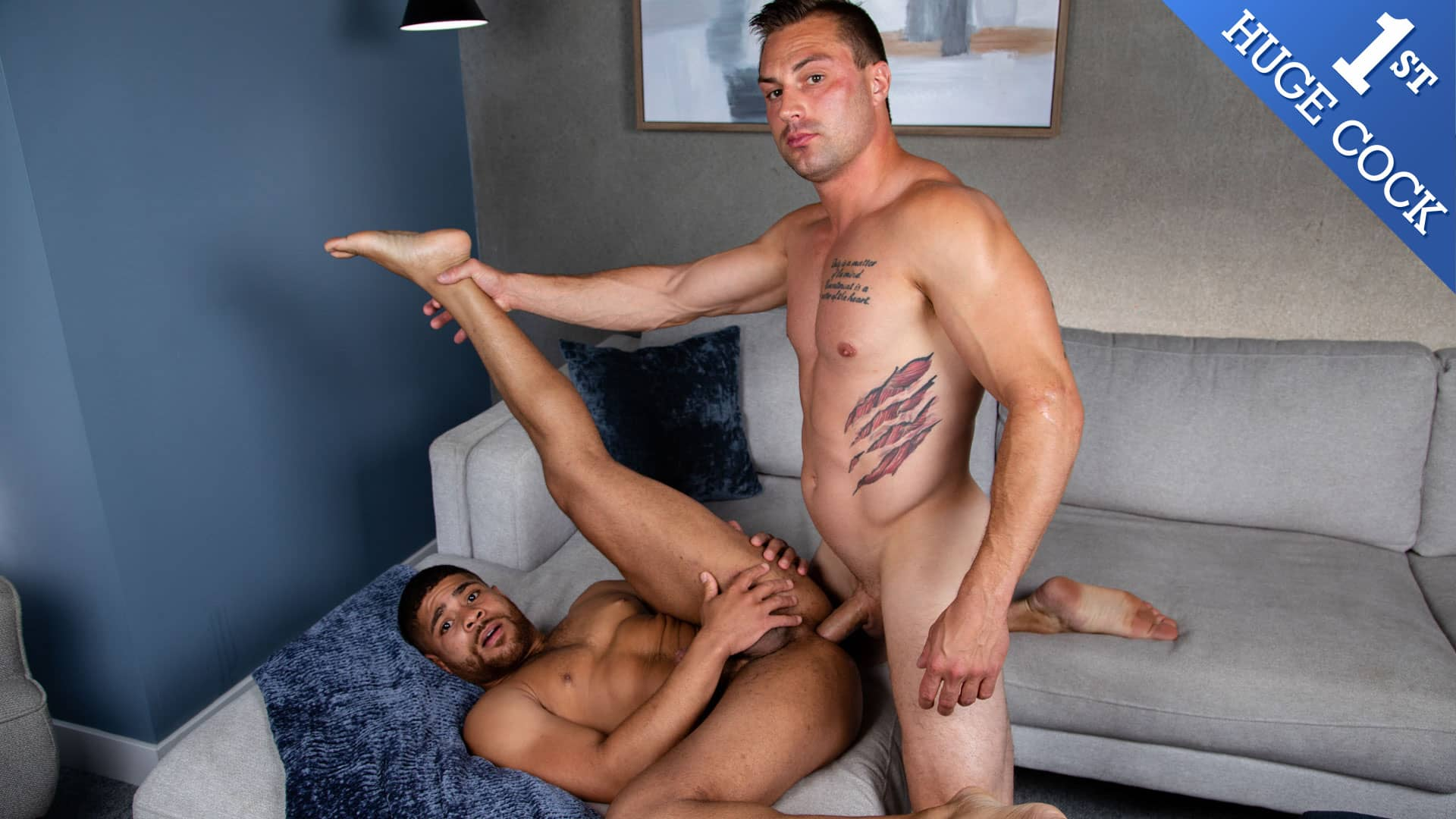 Sylvester's First Huge Cock – Damien White and Sylvester Red