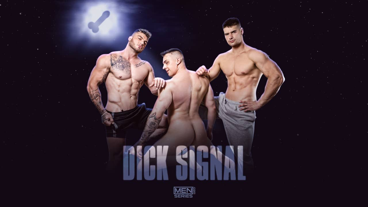 Dick Signal Uncut – William Seed, Ace Quinn and Malik Delgaty