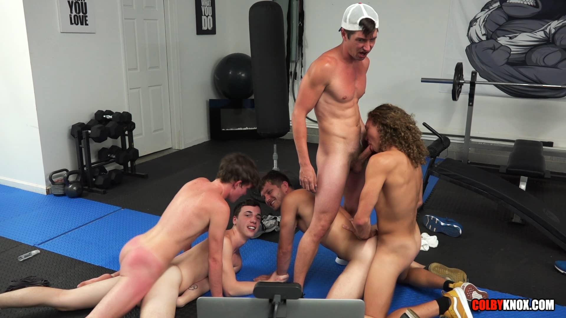 5-way Gym Fuck, Part 2